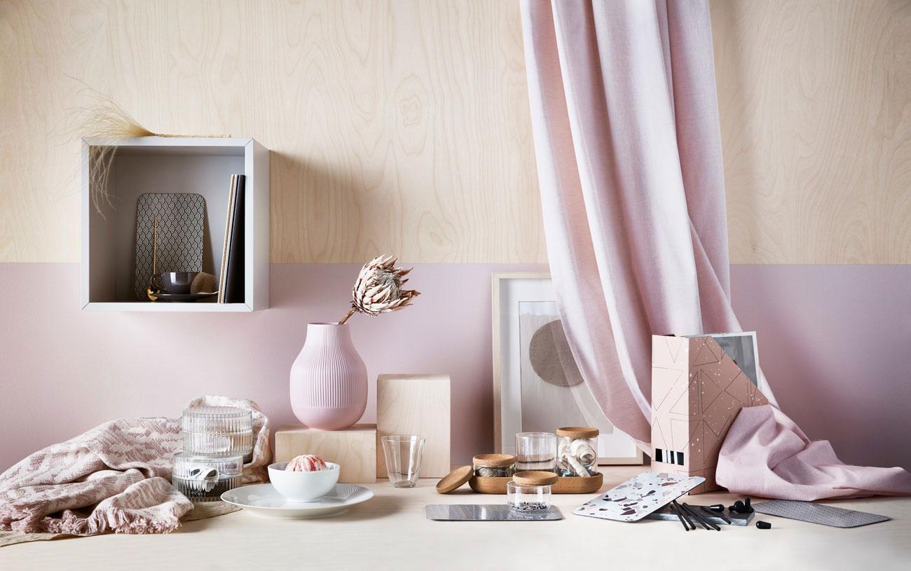 najbolje kombinacije boja za zidove za 2019 godnu - ljubicasta i roza