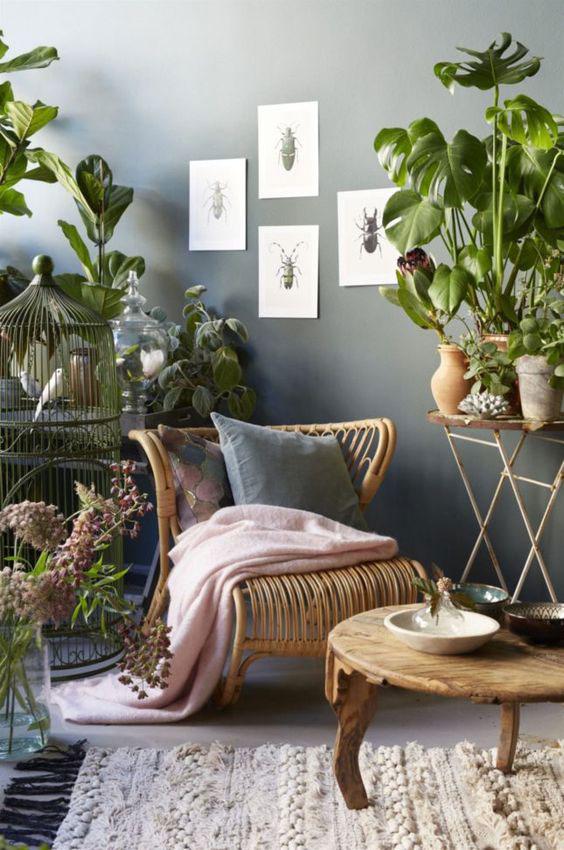 boje za zidove uz braon nameštaj - braon i siva