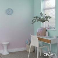 krecenje zidova u dve boje - ombre efekat