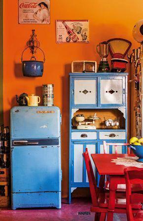 kuhinja uređena u retro stilu