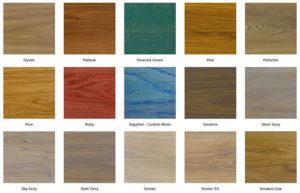 ulje za drvo paleta boja