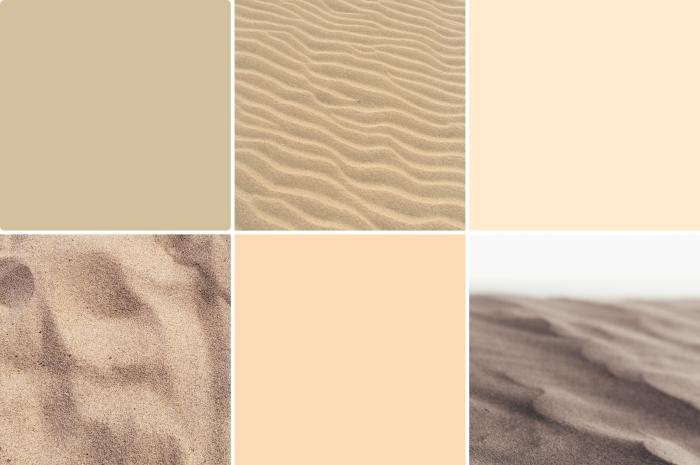 Peščane boje za zidove - različite nijanse