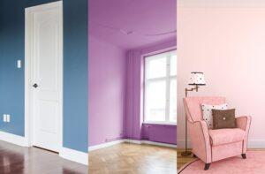 Plava, ljubičasta i roza boja za zidove koja smiruje