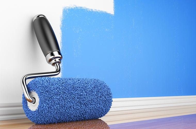 Plava boja za zidove koja smiruje