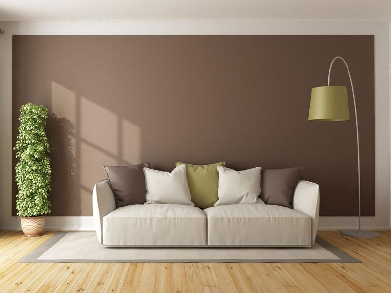 Braon boja za unutrašnje zidove, trend u 2021. godini