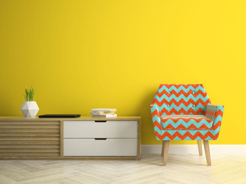 Žuta boja za unutrašnje zidove, trend u 2021. godini