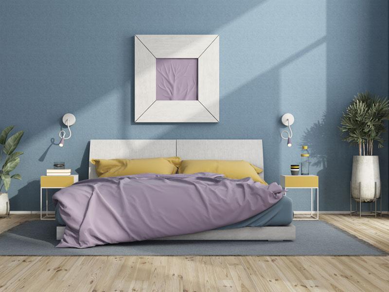 Plava boja za unutrašnje zidove, trend u 2021. godini
