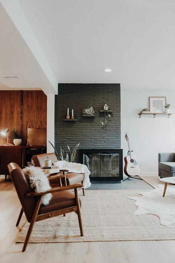 Soba u platina sivoj boji koja predstavlja jednu od najpopularnijih boja za zidove